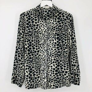 Equipment Femme Animal Print Silk Blouse